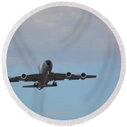Kc135 Military Aircraft  Picture D Round Beach Towel