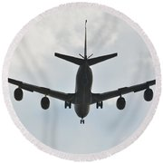 Kc135 Military Aircraft  Picture E Round Beach Towel