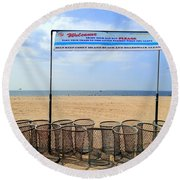 Keep Coney Clean Round Beach Towel