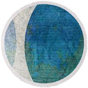 Keep Me Company Round Beach Towel by Brett Pfister