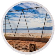 Keep Out No Playing Here Swing Set Playground Round Beach Towel