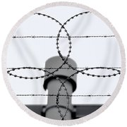 Keep Out Round Beach Towel