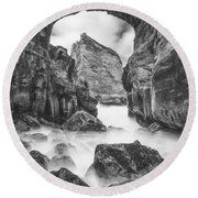 Kehole Arch Round Beach Towel by Darren  White