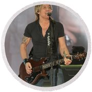 Musician Keith Urban Round Beach Towel
