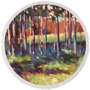 Kelly's Trees Round Beach Towel