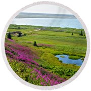 Kenai River Outlet On The Cook Inlet In Kenai-ak Round Beach Towel