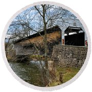 Kennedy Covered Bridge - Chester County Pa Round Beach Towel
