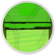 Kensington Gardens Series Green On Green Oil On Canvas Round Beach Towel