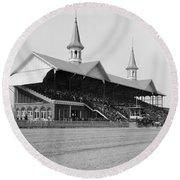 Kentucky Derby, 1901 Round Beach Towel