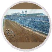 Kentucky Derby - Horse Race Round Beach Towel