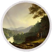Kentucky Landscape 1832 Round Beach Towel