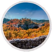 Kentucky - Natural Arch Scenic Area Round Beach Towel