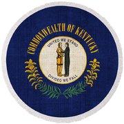 Kentucky State Flag Round Beach Towel