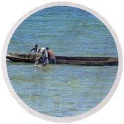 Kenyan Fishermen Round Beach Towel
