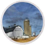 Kenyon Brothers Dairy Round Beach Towel
