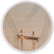 Kerala Fishermen Round Beach Towel