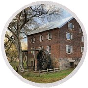 Kerr Grist Mill Round Beach Towel