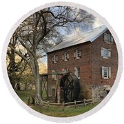 Kerr Grist Mill At Sloan Park Round Beach Towel