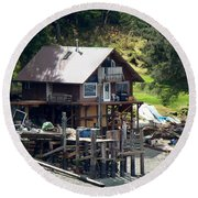 Ketchikan Buildings With Character 2 Round Beach Towel