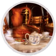 Kettle -  Have Some Tea - Chinese Tea Set Round Beach Towel