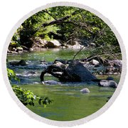 Keuka Seneca Outlet Trail Round Beach Towel
