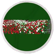 Keukenhof Gardens Panoramic 20 Round Beach Towel