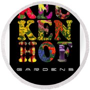 Keukenhof Gardens The Poster Round Beach Towel