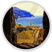 Key Hole View Of Dubrovnik 2 Round Beach Towel