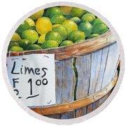 Key Limes Ten For A Dollar Round Beach Towel