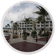 Key West Bayfront  Round Beach Towel