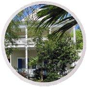 Key West House Round Beach Towel