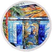 Key West Still Life Round Beach Towel