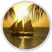Key West Sunset Round Beach Towel