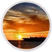 Key West Sunset Round Beach Towel