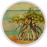 Keys Mangrove Round Beach Towel