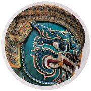 Khmer Guard Round Beach Towel