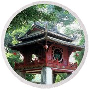 Khue Van Cac Gate Round Beach Towel