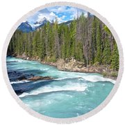 Kicking Horse River In Yoho Np-bc Round Beach Towel