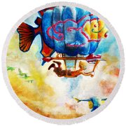 Kiddography Cover By Tom Kidd Round Beach Towel