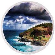 Kilaeua Point National Wildlife Refuge- Kauai  Hawaii Round Beach Towel