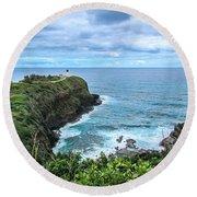 Kilauea Lighthouse Round Beach Towel