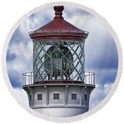 Kilauea Point Lighthouse Hawaii Round Beach Towel