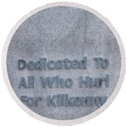Kilkenny Hurling Monument, Kilkenny Round Beach Towel
