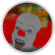 Killer Clowns In Fresco Round Beach Towel