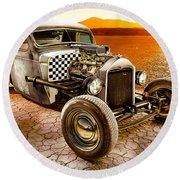 Millers Chop Shop 1946 Chevy Truck Round Beach Towel