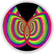 Kinetic Rainbow 27 Round Beach Towel