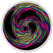 Kinetic Rainbow 36 Round Beach Towel