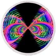 Kinetic Rainbow 38 Round Beach Towel