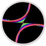 Kinetic Rainbow 39 Round Beach Towel