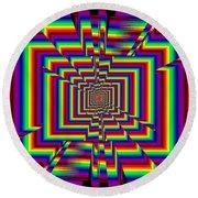 Kinetic Rainbow 42 Round Beach Towel
